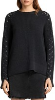 AllSaints Aria Lace-Up Sleeve Sweater