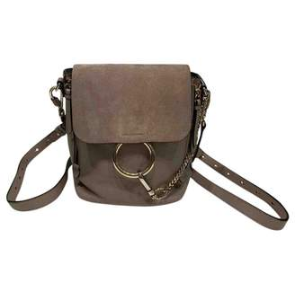 Chloé \N Grey Leather Backpacks