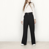Maje Wide leg trousers with belt