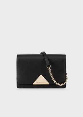 Emporio Armani Vachetta Leather Shoulder Bag