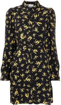 Ganni Floral Shirt Dress