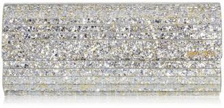 Jimmy Choo SWEETIE Champagne Coarse Glitter Acrylic Clutch Bag