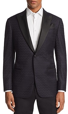 Giorgio Armani Emporio G-line Tonal Printed Tailored Fit Jacket
