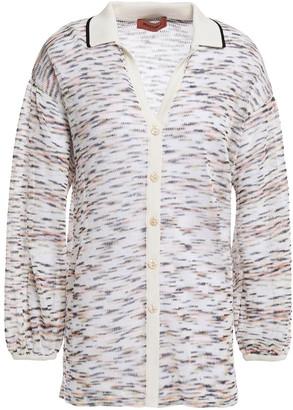 Missoni Crochet-knit Linen And Cotton-blend Shirt