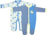Cutie Pie Baby Blue Dinosaur Footie Set