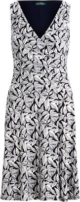 Ralph Lauren Printed Jersey Surplice Dress