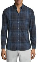 Theory Zack PS Aviston Check Sport Shirt, Medium Gray