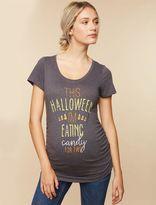 Embellished Short Sleeve Maternity T Shirt