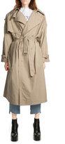 Vetements Oversize Cotton Trench Coat