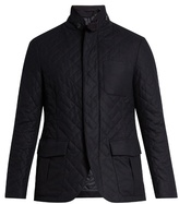 Giorgio Armani Quilted Wool-blend Jacket
