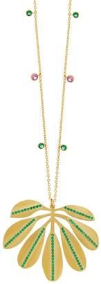 Ileana Makri EYE M by Tropical Big Leaf Necklace