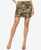 Sanctuary Camo-Print Cotton Mini Skirt
