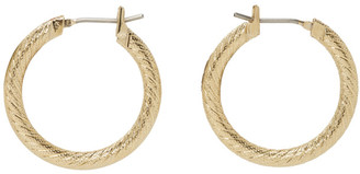 Laura Lombardi Gold Etched Hoops