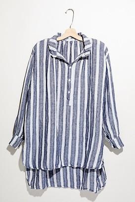 Cp Shades Stripe Linen V-Neck