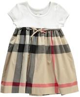 Burberry Rosey Tartan Bi-Material Dress