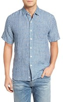 Tommy Bahama Men's Check Stamos Standard Fit Linen Sport Shirt