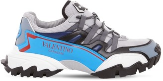 Valentino CLIMBER LEATHER & MESH SNEAKERS