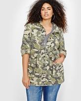 Addition Elle L&L Military Print Jacket