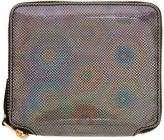 Comme des Garçons Wallets Silver Rainbow Zip-Around Wallet