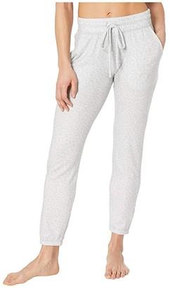 Beyond Yoga Printed Lux Lounger Pants (Gray Leopard) Women's Workout