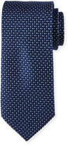 Neiman Marcus English Woven Silk Tie, Navy