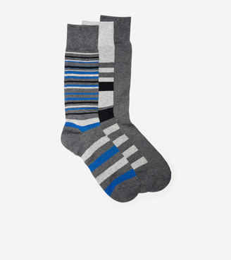 Cole Haan 3-Pair Town Stripe Crew Socks