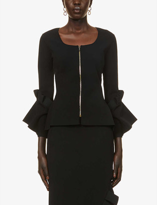 Roland Mouret Hambury square-neck stretch-woven jacket