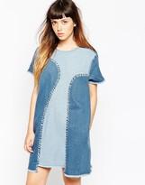House of Holland A-Line Denim Dress