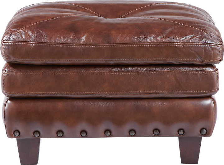 Rooms To Go Capital City Leather Ottoman