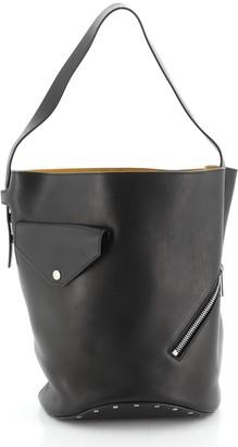 Celine Biker Bucket Shoulder Bag Calfskin Small