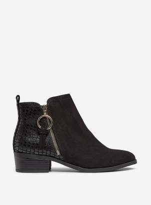 Dorothy Perkins Womens Wide Fit Black 'Mynor' Black Ankle Boots, Black