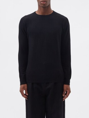 Raey Slim-fit Crew-neck Cashmere Sweater - Black