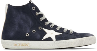Golden Goose Navy Suede Francy Sneakers
