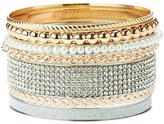 Charlotte Russe Embellished Bangle Bracelets - 7 Pack