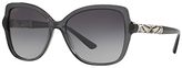 Bvlgari BV8174B Embellished Cat's Eye Sunglasses, Grey