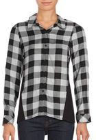 Kensie Herb Checked Button-Down Shirt