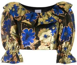 Alice McCall Night Light cropped blouse