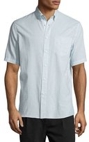 Rag & Bone Micro-Stripe Organic Cotton Oxford Shirt