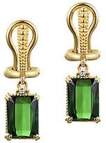 Judith Ripka 14K Gold Green Tourmaline & Diamon