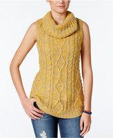 Freshman Juniors' Sleeveless Cowl-Neck Tunic Sweater