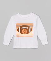 Swag White & Orange Football Monogram Tee - Infant Toddler & Boys