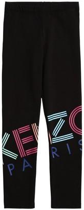 Kenzo Logo Print Cotton Jersey Leggings