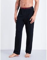 Emporio Armani Elasticated Stretch-cotton Trousers