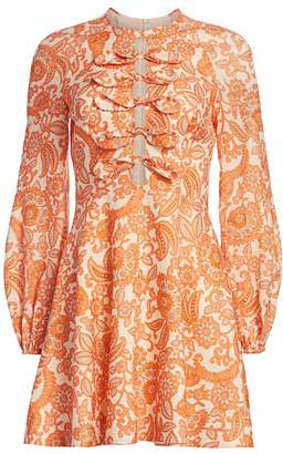 Zimmermann Peggy Scalloped Mini Dress