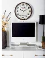 """Alcott Hill Burgess Vintage Round Old Town 14"""" Wall Clock"""