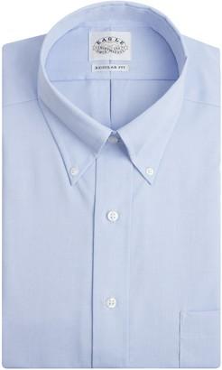Eagle Men's 100% Cotton Pinpoint Button Down Collar Non Iron Long Sleeve Dress Shirt