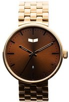Vestal Unisex ROS3M005 Roosevelt Metal Analog Display Quartz Gold Watch