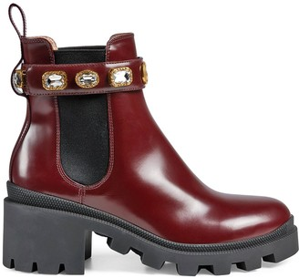 Gucci Crystal-Embellished Ankle Boots