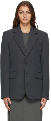 Lemaire Grey Slim Fit Single-Breasted Blazer