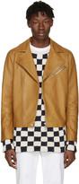 Acne Studios Brown Leather Axl Jacket